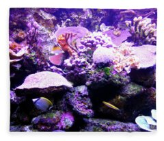 Tropical Aquarium Fleece Blanket