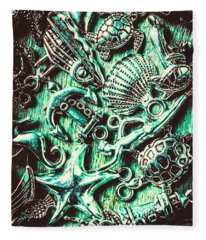 Tropical Bay Elements Fleece Blanket