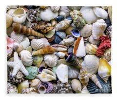 Tropical Beach Seashell Treasures 1500a Fleece Blanket