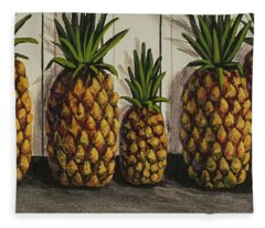 Fleece Blanket featuring the painting Tropical Bounty by Darice Machel McGuire