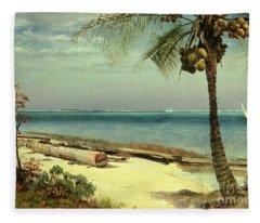 Tropical Coast Fleece Blanket