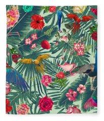 Tropical Fun Time  Fleece Blanket