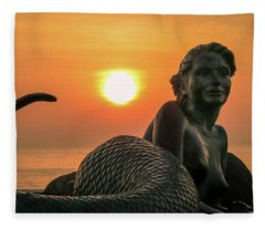Tropical Mermaid Fleece Blanket