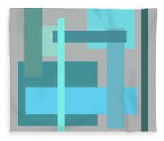 Tropical Oceans Square Abstract Fleece Blanket