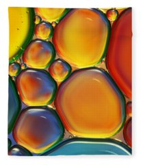 Tropical Oil And Water II Fleece Blanket