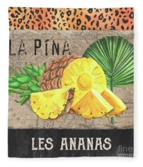 Tropical Palms 5 Fleece Blanket