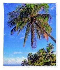 Tropical Palms Fleece Blanket