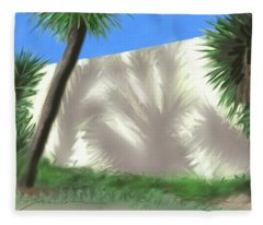 Tropical Shadows Fleece Blanket