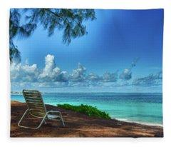 Tropical View Fleece Blanket