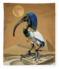 Thoth Egyptian God Fleece Blanket