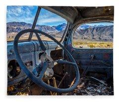 Truck Desert View Fleece Blanket