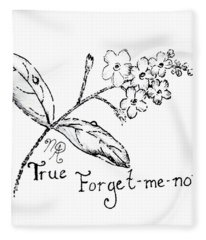 True Forget-me-not Fleece Blanket