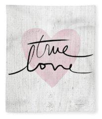 True Love Rustic- Art By Linda Woods Fleece Blanket