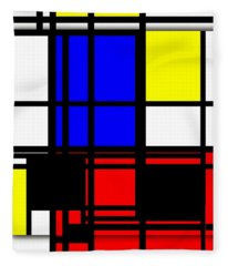 True Mondrian Fleece Blanket