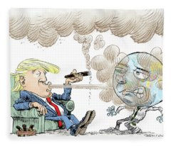 Trump And The World On Climate Fleece Blanket
