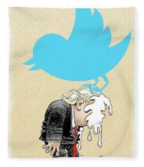 Trump Twitter Poop Fleece Blanket