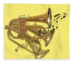 Trumpet Fanfare Fleece Blanket