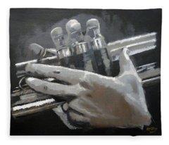 Trumpet Hands Fleece Blanket