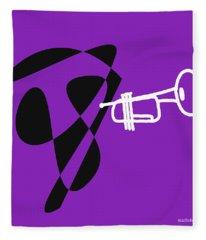 Trumpet In Purple Fleece Blanket