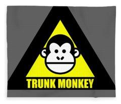 Trunk Monkey Fleece Blanket