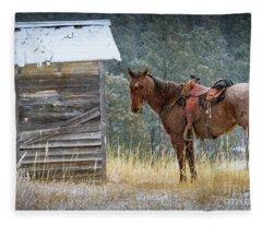 Trusty Horse  Fleece Blanket