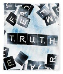 Truth Inverted Fleece Blanket