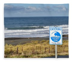 Tsunami Hazard Zone Fleece Blanket