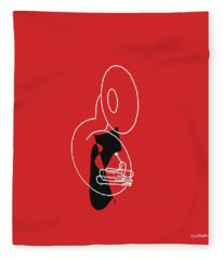 Tuba In Red Fleece Blanket