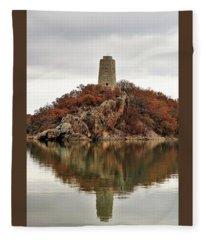 Tucker Tower And Reflection Fleece Blanket