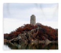Tucker Tower In Fall Fleece Blanket