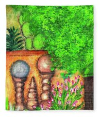 Tucson Garden Fleece Blanket