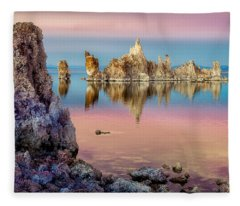 Tufas At Mono Lake Fleece Blanket