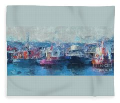 Tugs Together  Fleece Blanket