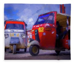 Tuk Tuks  Fleece Blanket