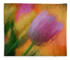 Tulip Abstraction Fleece Blanket