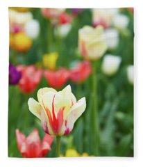 Tulip Bed Fleece Blanket