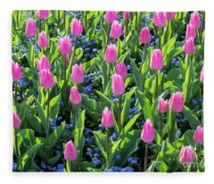 Tulip Christmas Dream Flowers Fleece Blanket