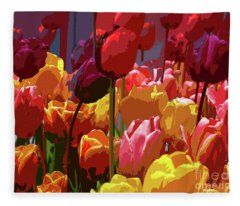 Tulip Confusion Fleece Blanket