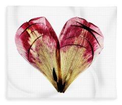 Tulip Heart Fleece Blanket