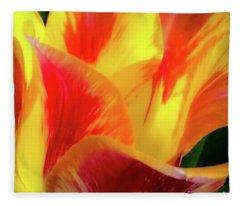 Tulip In Bloom Fleece Blanket