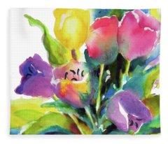 Tulip Pot Fleece Blanket