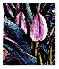 Tulip Season Fleece Blanket