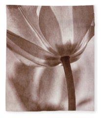 Tulip Transparency I Fleece Blanket