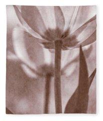 Tulip Transparency II Fleece Blanket