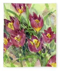 Tulipa Fleece Blanket