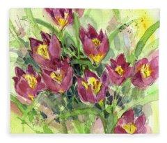 Tulipa Fleece Blanket