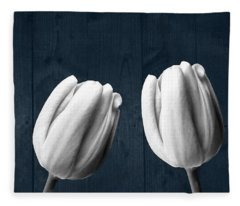 Tulips And Wood Fleece Blanket