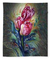 Tulips Fantasy Fleece Blanket