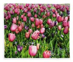 Tulips In Bloom Fleece Blanket