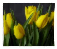 Tulips In The Kitchen Fleece Blanket